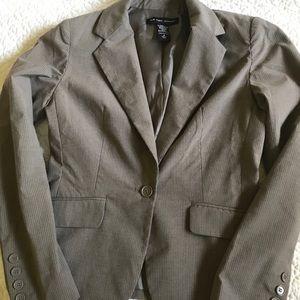 New York & Company Brownish Gray Blazer Size 4